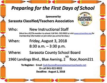 News - SCTA - Sarasota Classified Teacher's Association